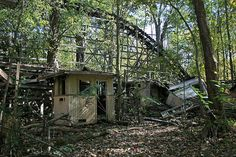 """The Big Dipper"" roller coaster, (abandoned) Chippewa Lake Amusement Park, Ohio"