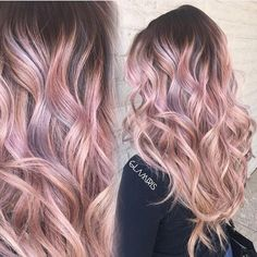 Shell pink hair color pink ombre by Iris Smith. pastel pink hair color hotonbeauty.com