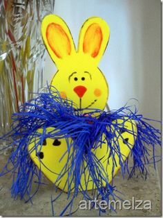 Easter bunny made in EVA | Easter rabbit made with EVA