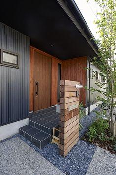 外観② Japanese Home Design, Japanese House, Japanese Architecture, House Entrance, Plant Decor, House Colors, Indoor Plants, Living Spaces, House Plans