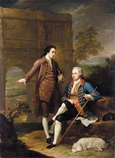 Anton von Maron - Portrait of Two Gentlemen before the Arch of Constantine in Rome