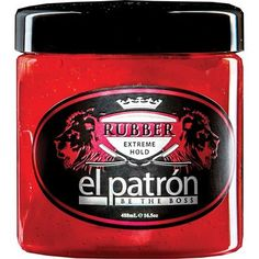El Patron Be The Boss Rubber Extreme Hold for sale online Barber Supplies, Thickening Shampoo, Hair Pomade, Be The Boss, Moroccan Oil, Hair Gel, Hold On, Hair Care, Conditioner
