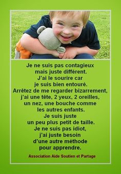 Nirvana-Santé: Citation sur le handicap Nirvana, Bien Dit, Image Citation, Down Syndrome Kids, 4 Year Olds, Bad Boys, Encouragement, Messages, Learning