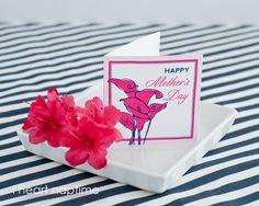 FREE printable Mother's Day Card...perfect to attach to flowers, gifts, or treats!