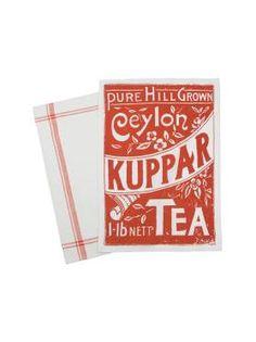 Ceylon Tea-inspired tea towels
