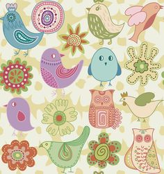 Hand Drawn Birds & Flowers Vector Doodles (Free) | Free Vector Archive