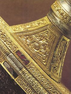 Detail of Vendel I spatha grip. Photograph courtesy of the SHM.