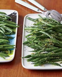 These green beans are first sauteed in butter and garlic, then simmered in chicken broth.
