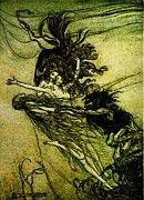 """New artwork for sale! - """" Valkyrie by Arthur Rackham """" - http://ift.tt/2nGfihW"""