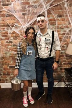 Best Halloween Costumes For Couples To Win This Year; Halloween Costumes For Couples; Mario And Peach Halloween Costume; Unique Couple Halloween Costumes, Cute Couple Halloween Costumes, Funny Couple Halloween Costumes, Best Couples Costumes, Hallowen Costume, Halloween Outfits, Costumes For Women, Halloween Diy, Halloween Couples
