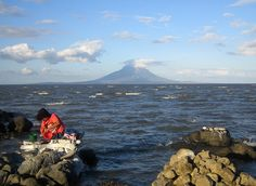 Lake Nicaragua.  The only lake with fresh water shark...or so we were told!