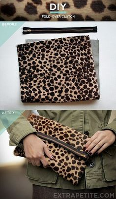 Leopard clutch DIY. While your in the mood to DIY :P @Ash Stewart