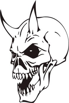 #skull #skulls #brainpan #Череп #Набросок #ТАТУ Small Skull Tattoo, Evil Skull Tattoo, Skull Tattoo Design, Skull Tattoos, Body Art Tattoos, Demon Drawings, Creepy Drawings, Art Drawings Sketches, Tattoo Sketches