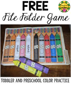 Learn and practice colors with this FREEBIE file folder game.