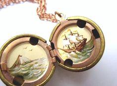 sailing ship locket