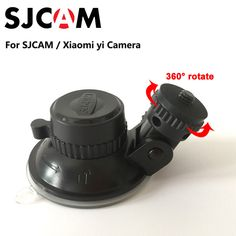 Original SJCAM SJ4000 Accessories Car Sucker Holder Mount Suction Cup 360 Degree Rotate for Xiaomi yi SJ5000 M10 M20 SJ6 SJ7 H9