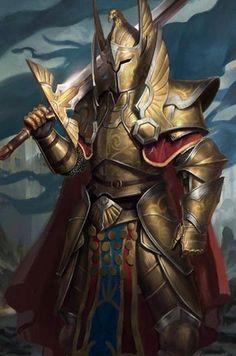 Gold Full armor warrior