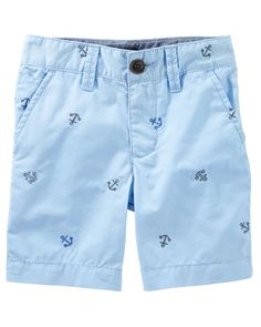 Toddler Boy Anchor Print Flat-Front Shorts from OshKosh B'gosh. Shop clothing & accessories from a trusted name in kids, toddlers, and baby clothes.