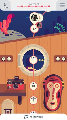 Two Dots iPhone home, maps, illustration screenshot