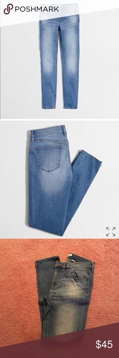 """NWOT J. Crew Skinny Jeans * Weekend Sale * 🎉 J. Crew San Diego wash skinny jean with 28"""" inseam! These are sold out at J. Crew. ONLY WORN ONCE! They are practically brand new!! J. Crew Jeans Skinny"""