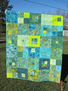"""Check out """"Color Me Quilty"""" blog post to see close ups of the fabulous quilting"""