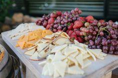 Real Wedding: Leilani and Brandon's DIY Backyard California Wedding - Cheese Table