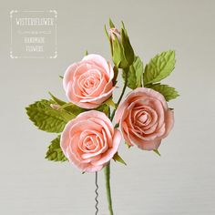 Rose hair pin Summer Wedding Hair Pins Peach wedding romantic