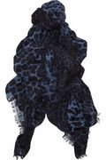 Yves Saint Laurent  Leopard-print wool and cashmere-blend scarf