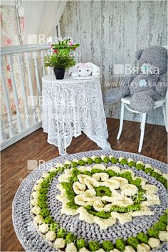 Hooked rug 140 cm 552 in by ivyazka on Etsy, $360.00