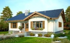 Proiect detaliat – casă pe un singur nivel cu suprafața de 99 m²
