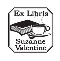 Custom Book and Teacup Ex Libris Bookplate by AsspocketProductions