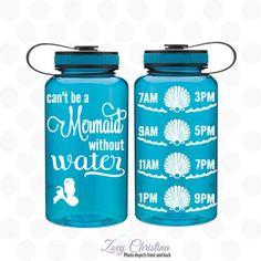 water intake bottle  Mermaid bottle  Mermaid by ZoeyChristina