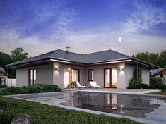 Projekt domu Nika 2 116,51 m2 - koszt budowy - EXTRADOM Minimal House Design, Minimal Home, Home Fashion, Gazebo, Minimalism, Outdoor Structures, Mansions, House Styles, Outdoor Decor
