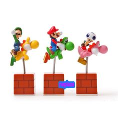 Free Sipping  Super Mario Brothers Yoshi with Mario Luigi Mushroom Shake Figures Action Toy Wholesale  (3 pcs/set )-in Action & Toy Figures from Toys & Hobbies on Aliexpress.com