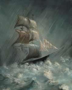A person who is plagued by bad luck might be advised to get rid of a shipwreck painting.