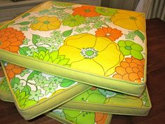 Vintage Patio Chair Cushions (60's-70's) | eBay