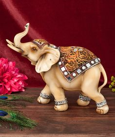 Light Standing Elephant Figurine