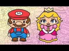 how to draw chibi mario characters