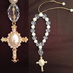 Mais um modelo de dezena #lamaisonclaire #presentesespeciais #catolicismo #cristo #dezena #deus #artesanato #arte #perolas #cruz