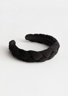 Designer Inspired Black Evil Eye Bead Embellished Knot Headband