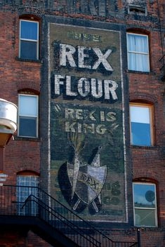 rex flour. ghost sign.