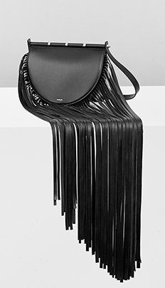 Black calf leather and fringes for Leather Purses, Leather Bag, Leather Craft, Calf Leather, Black Leather, Handbag Accessories, Fashion Accessories, Bohemian Chic Fashion, New Bag