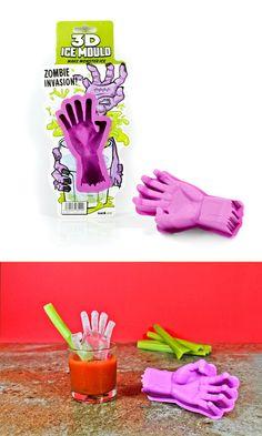 Sorprende a tus amigos con la mano zombie de hielo.