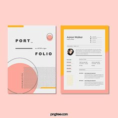 pink,resume,geometric,typesetting,spot,line,noodles,collection,memphis,double-sided resume Graphic Design Resume, Resume Design Template, Creative Resume Templates, Cv Template, Creative Resume Design, Portfolio Design Grafico, Portfolio Design Books, Basic Resume, Visual Resume