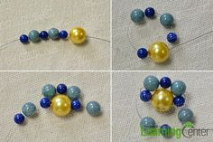 make the main part of the blue and yellow bracelet
