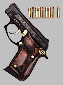 Taurus PT22: A very small pistol, this is a backup or purse gun.