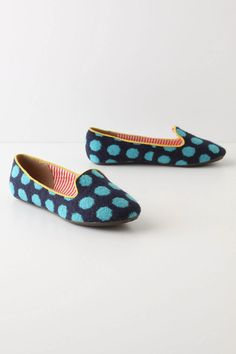 to keep my little toesies warm- these polka dotted slippers would do the trick- $58.00 from Anthropologie.  But another pair would do too!