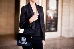 whole outfit - leather accents, studded trim