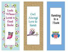 Free Owl Bookmarks