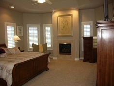 Master Bedroom With Tall Ceilings & Fireplace!